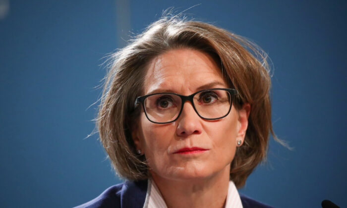 Swiss National Bank (SNB) Governing Board member Andrea Maechler attends a news conference in Bern, Switzerland, on Dec. 12, 2019. (Reuters/Denis Balibouse)