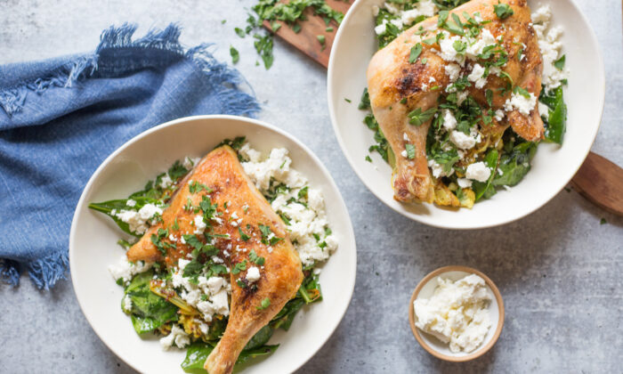 Lemon, parsley, and feta add a touch of brightness to fight the December gloom. (Caroline Chambers)