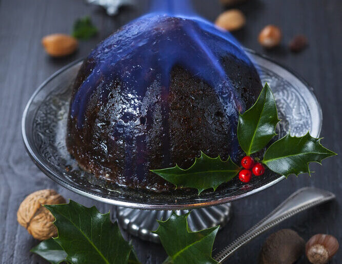 Gather 'Round the Christmas Pudding Fire