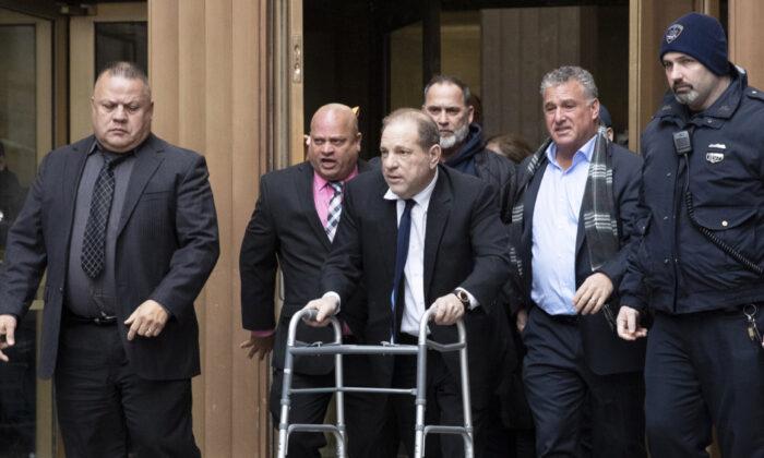 Harvey Weinstein leaves court following a hearing in New York on Dec. 11, 2019. (Mark Lennihan/AP)