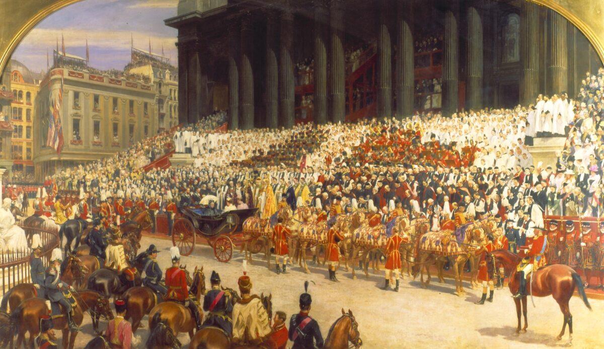 painting of Queen_Victoria's_Diamond_Jubilee_Service,_22_June_1897