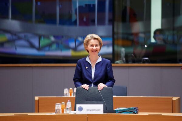 European Commission President Ursula von der Leyen attends the European Union leaders summit in Brussels, Belgium December 12, 2019. (Christian Hartmann/Reuters)