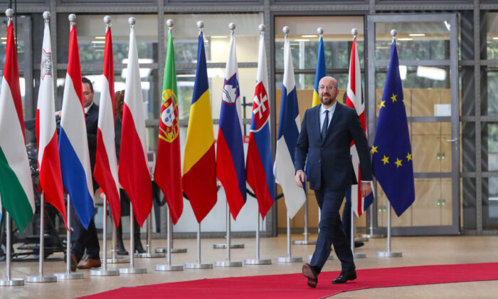 European Council President Charles Michel arrives at EU Council headquarters, ahead of an EU leaders summit in Brussels, Belgium December 12, 2019. (Yves Herman/Reuters)