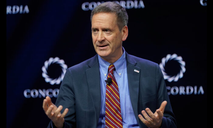 USAID Administrator Mark Green speaks onstage during the 2019 Concordia Annual Summit at Grand Hyatt New York, in NYC, on Sept. 24, 2019.  Riccardo Savi/Getty Images for Concordia Summit