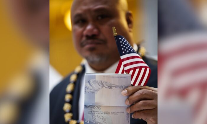John Fitisemanu, an American Samoan and the lead plaintiff in a lawsuit against the United States seeking full U.S. citizenship. (Katrina Keil Youd/Equally American via AP)