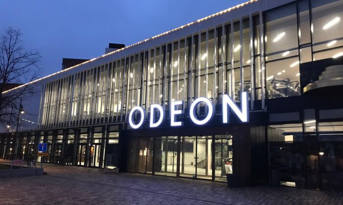 The Odeon Music and Theatre Center in Odense, Denmark. (Screenshot via Denmark TV2)