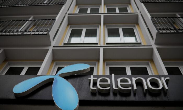 Telenor's logo is seen in central Belgrade, Serbia on March 21, 2018. (Marko Djurica/Reuters)