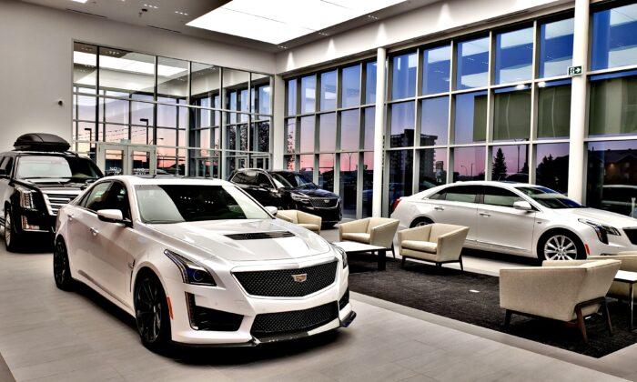 Wolfe Cadillac showroom interior. (Claudius Hall/Cadillac Canada)
