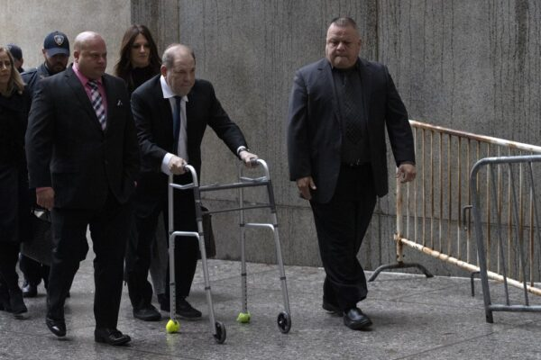 weinstein using walking frame