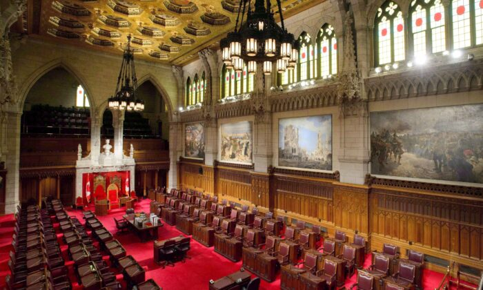 The Senate chamber on Parliament Hill in Ottawa on Nov. 13, 2018. (The Canadian Press/Sean Kilpatrick)