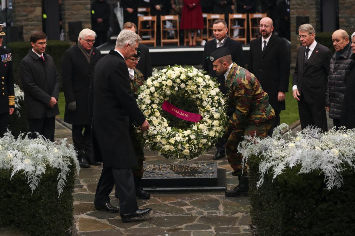 Frank-Walter Steinmeier, Mark Esper, King Philippe, Andrej Duda, Charles Michel