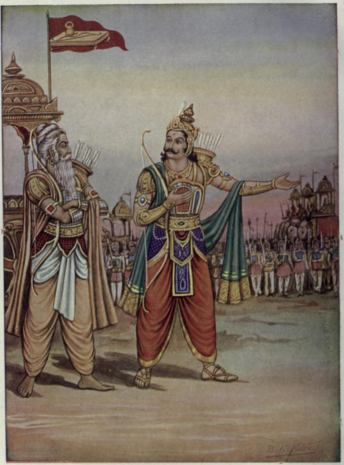 Duryodhana_showing_his_ar