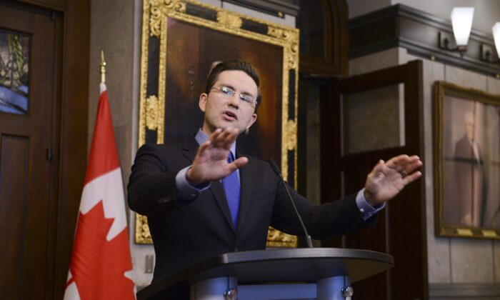 Conservative Finance Critic Pierre Poilievre responds to the federal economic and fiscal update on Parliament Hill on Dec. 16, 2019. Poilievre hasn't ruled out running for leadership of the Conservative Party. (The Canadian Press/Sean Kilpatrick)