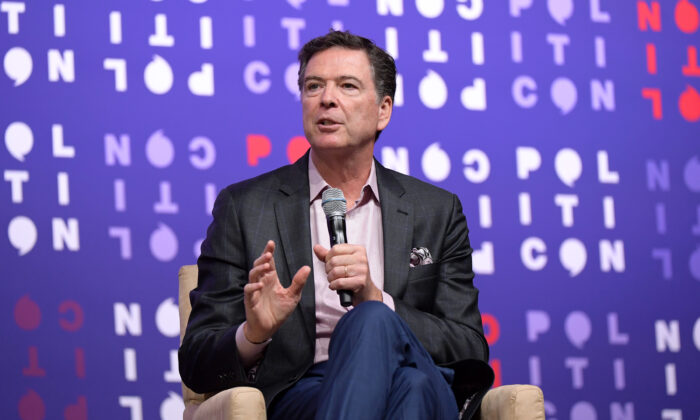 James Comey speaks onstage during the 2019 Politicon at Music City Center in Nashville, Tennessee, on Oct. 26, 2019. (Jason Kempin/Getty Images for Politicon)