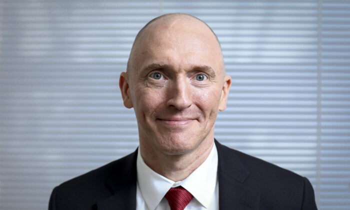 Carter Page, petroleum industry consultant and former foreign-policy adviser to Donald Trump during his 2016 presidential election campaign, in Washington on May 28, 2019. (Samira Bouaou/The Epoch Times)