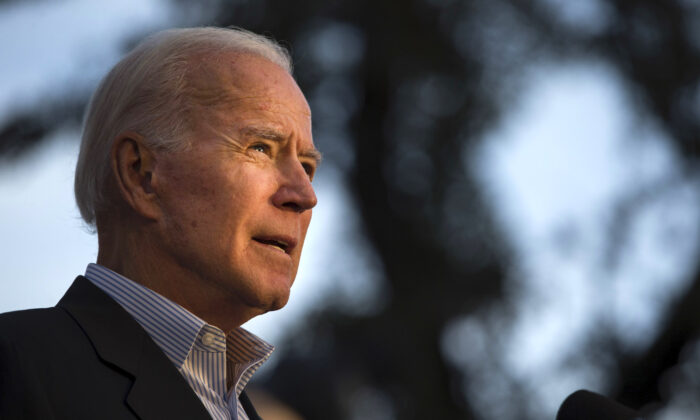 Democratic presidential candidate and former U.S. Vice President Joe Biden speaks at a community event while campaigning in San Antonio, Texas, on Dec. 13, 2019. (Daniel Carde/Getty Images)