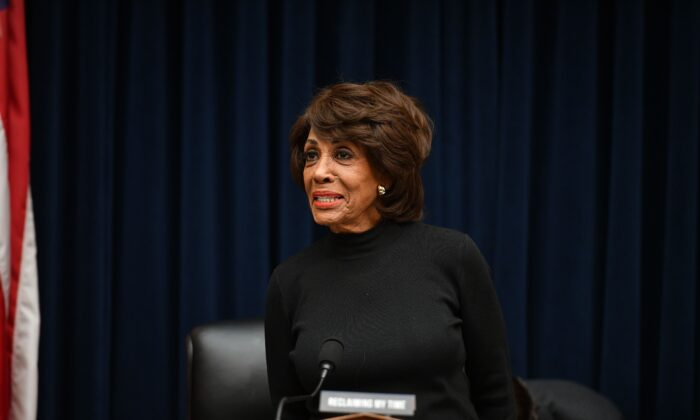 House Financial Services Chariwoman Maxine Waters (D-Calif.) in Washington on Oct. 23, 2019. (Mandel Ngan/AFP via Getty Images)
