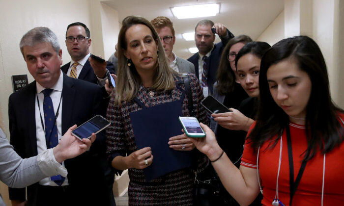 Rep. Mikie Sherrill (D-N.J.) speaks to reporters in Washington on Sept. 24, 2019. (Win McNamee/Getty Images)