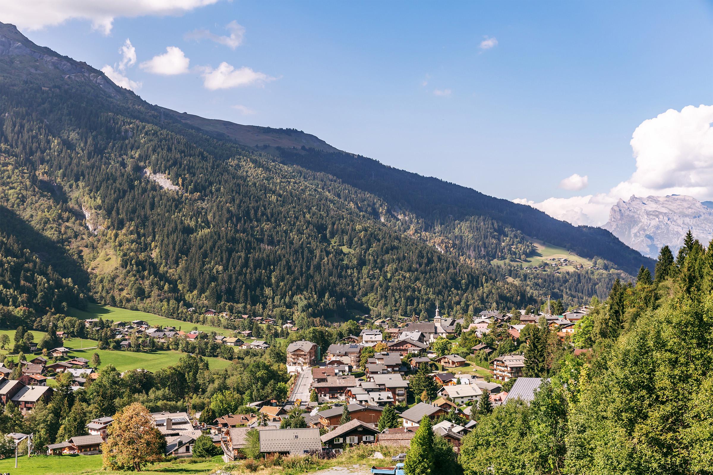 Pretty Alpine Village, French Alps
