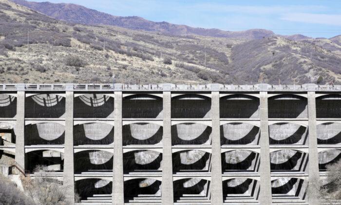 This Nov. 7, 2019, photo shows the Mountain Dell Dam, east of Salt Lake City. U.S. Sen. Kirsten Gillibrand, D-N.Y., is proposing Tuesday, Dec. 17, 2019. (AP Photo/Rick Bowmer)