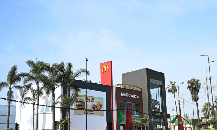 A closed McDonald's restaurant, one of all 29 locations that were closed following the deaths of two teenage employees, in Lima, Peru, on Dec. 18, 2019. (Guadalupe Pardo/Reuters)