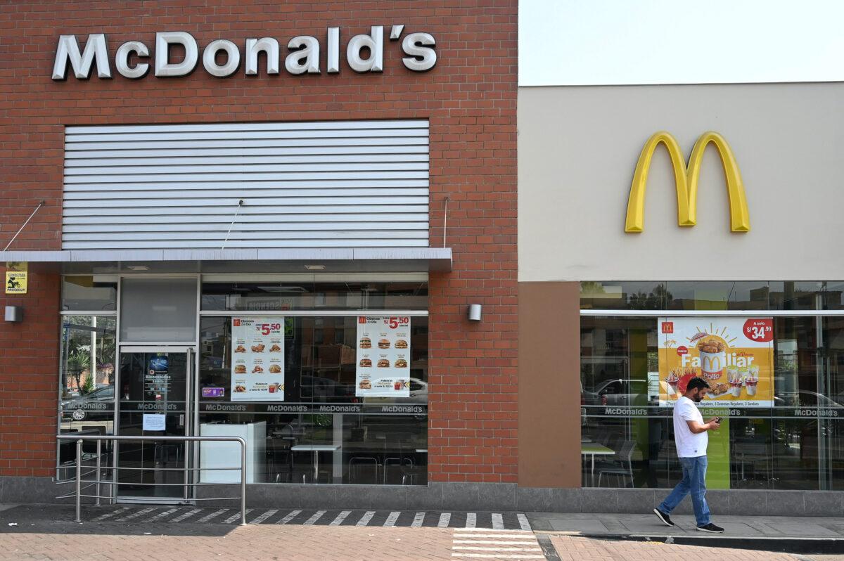 A closed McDonald's restaurant in Peru