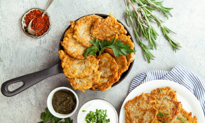 Traditional potato latkes for Hanukkah. (Shutterstock)