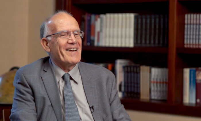 Victor Davis Hanson, historian and Hoover Institution and National Review Institute fellow, in New York City on Dec. 9, 2019. (The Epoch Times)