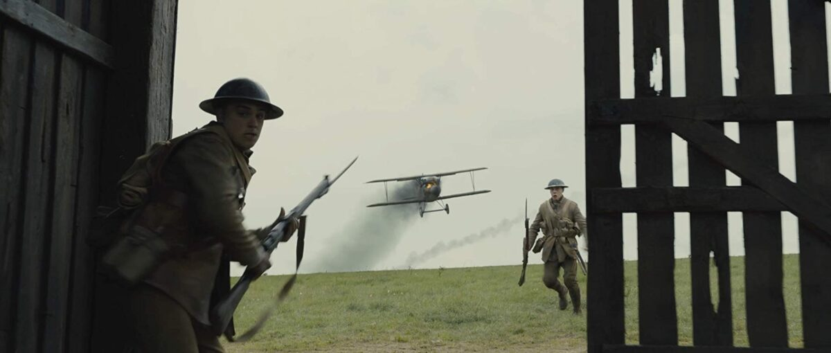 two soldiers and a warplane
