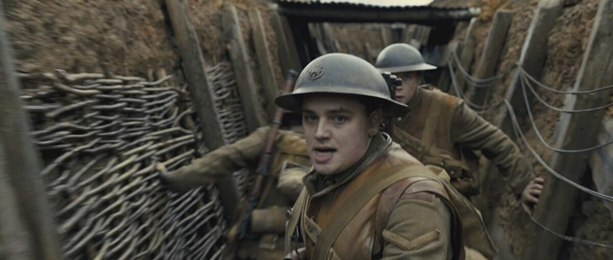 two soldiers in a WW1 trench