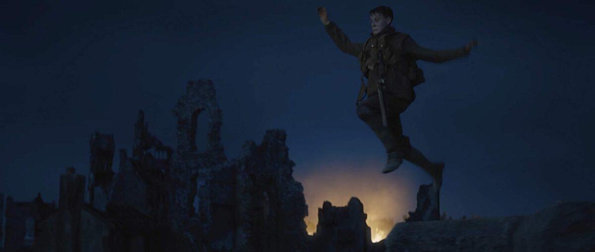 man jumping off building
