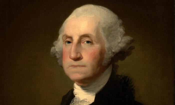"Detail of Gilbert Stuart's, ""George Washington."" (Image courtesy Clark Art Institute clarkart.edu)"