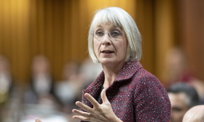 Health Minister Patty Hajdu speaks during Question Period in the House of Commons in Ottawa on Dec. 10, 2019. (The Canadian Press/Adrian Wyld)