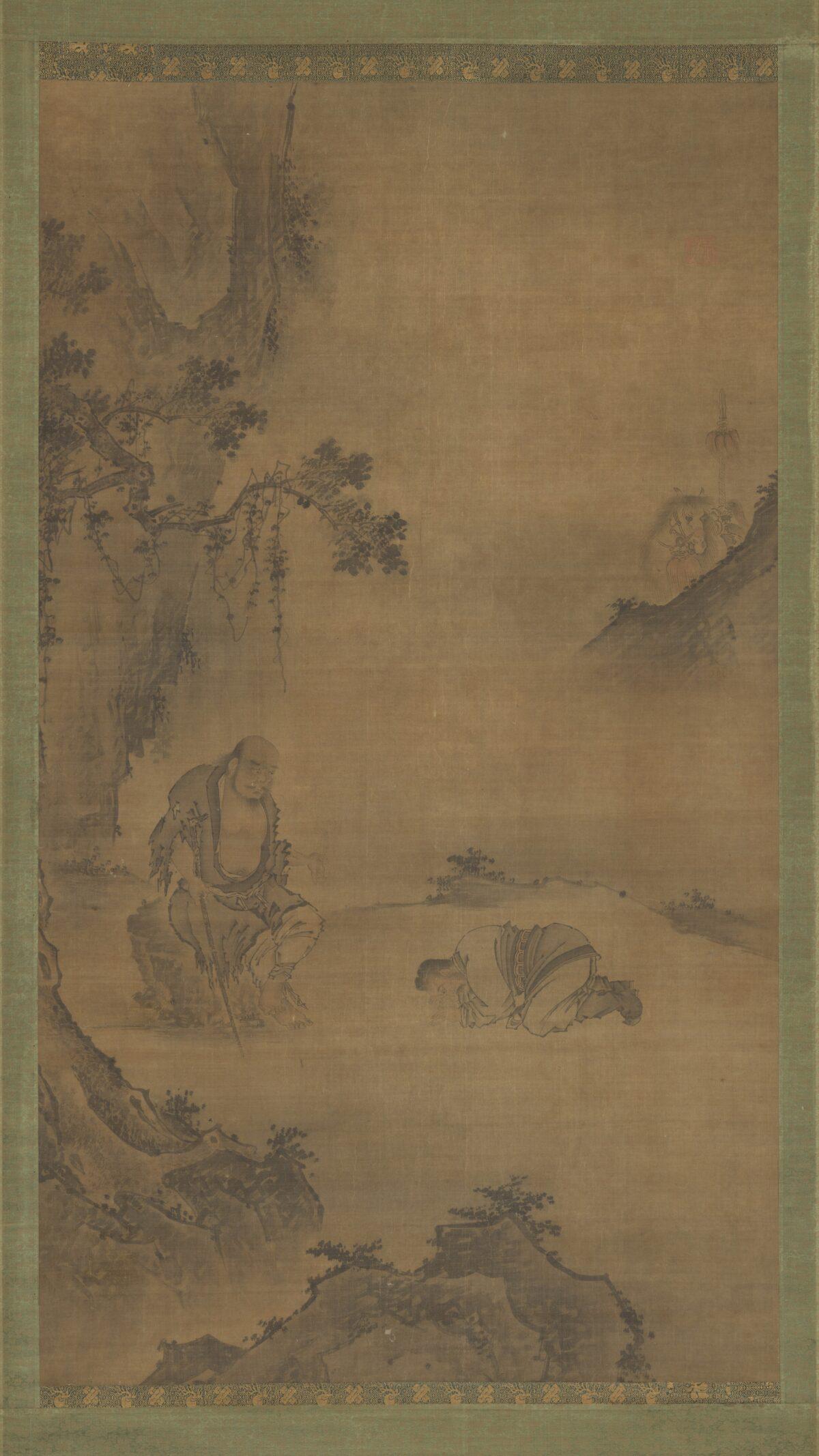 Daoist Immortal Li Tieguai Receiving a Visitor,