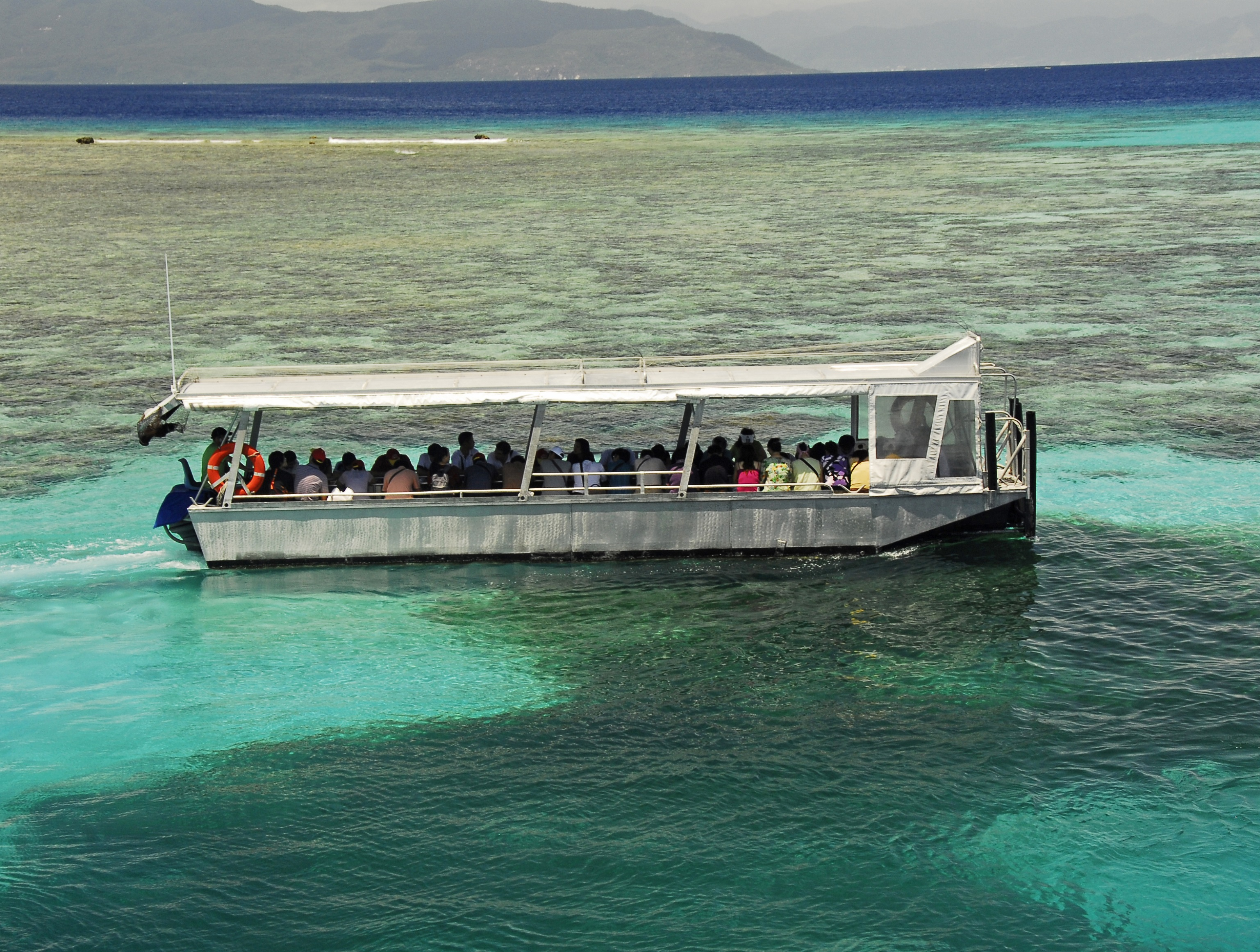 Great Barrier Reef on a glass-bottom boat