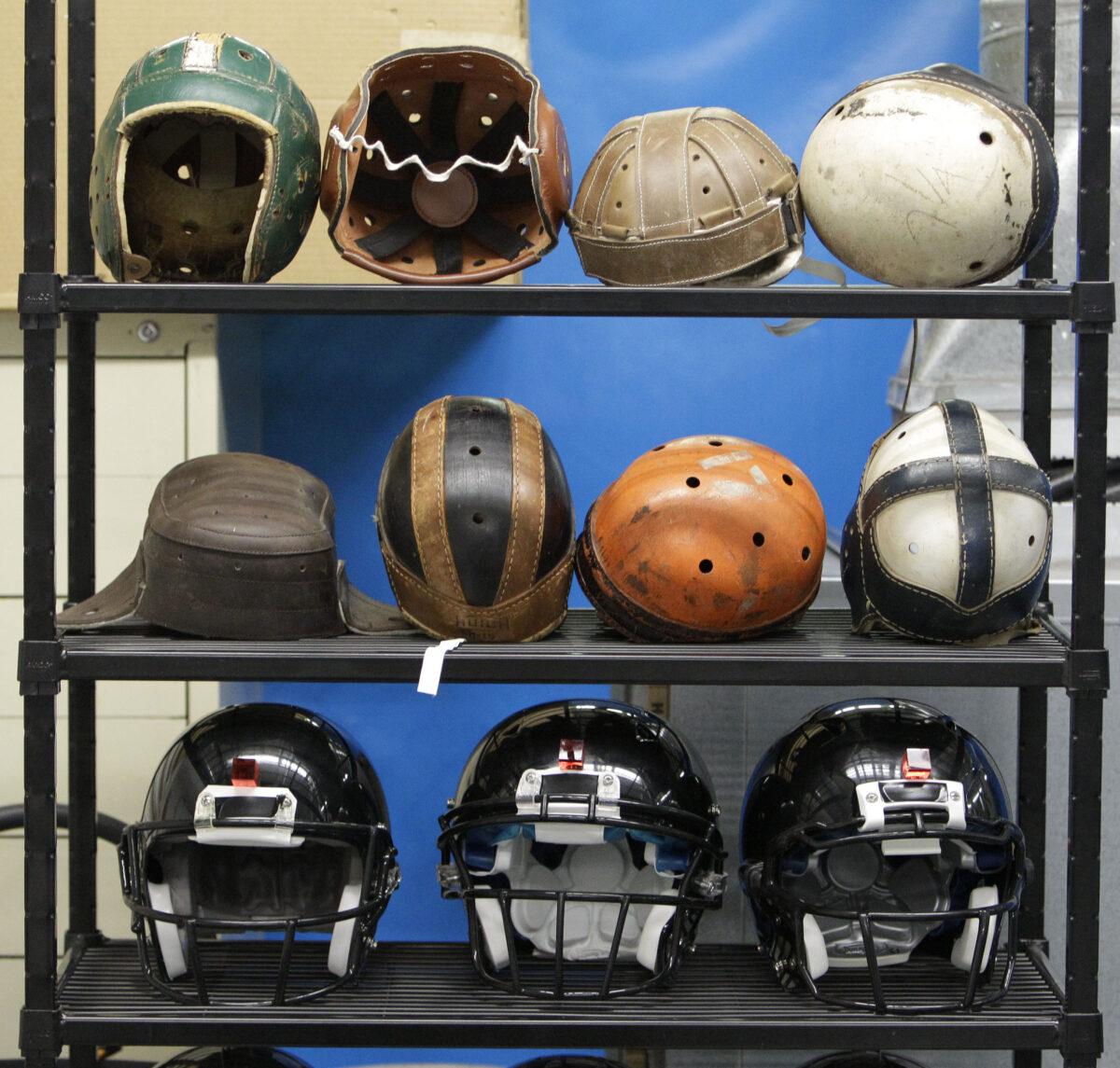NFL Helmet History Visual