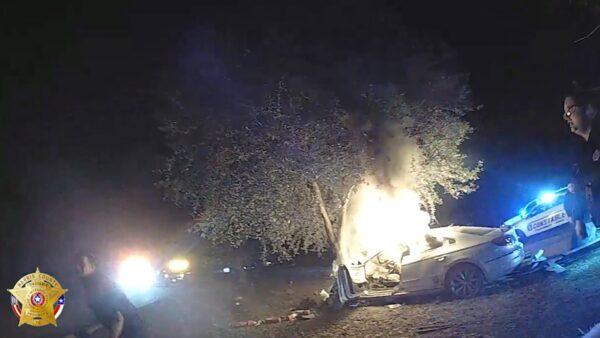 burning texas car 1