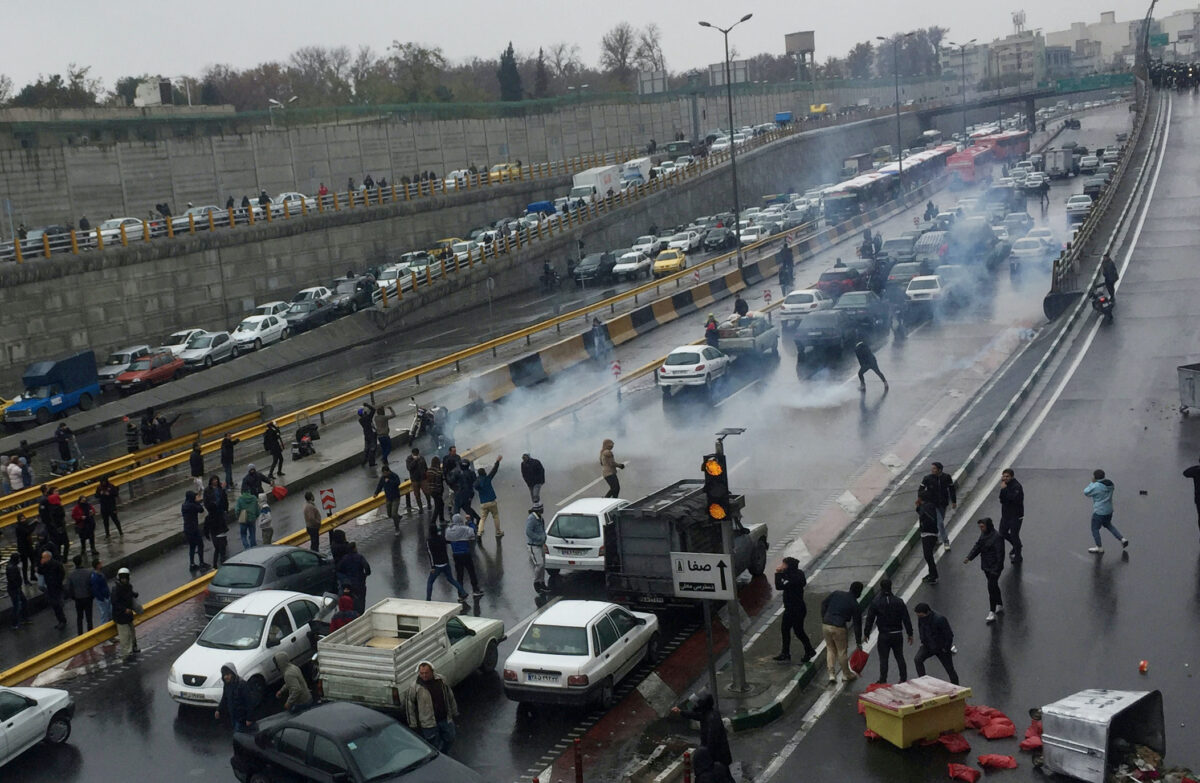 Iran protest against increased gas price