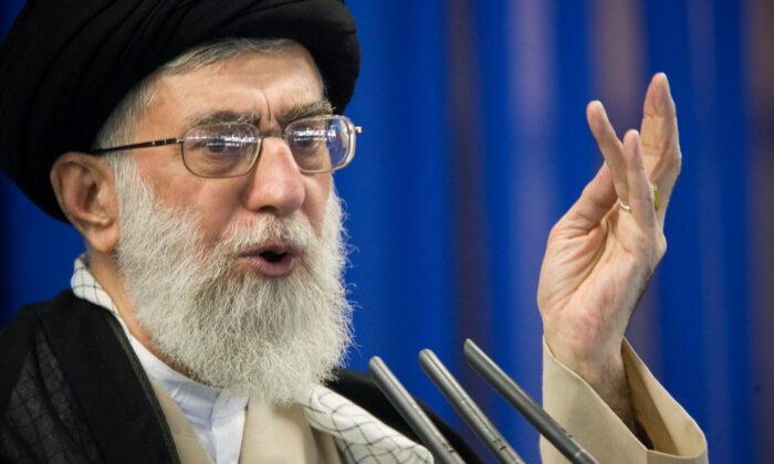 Iran's Supreme Leader Ayatollah Ali Khamenei speaks during Friday prayers in Tehran on Sept. 14, 2007. (Morteza Nikoubazl/Reuters-File)