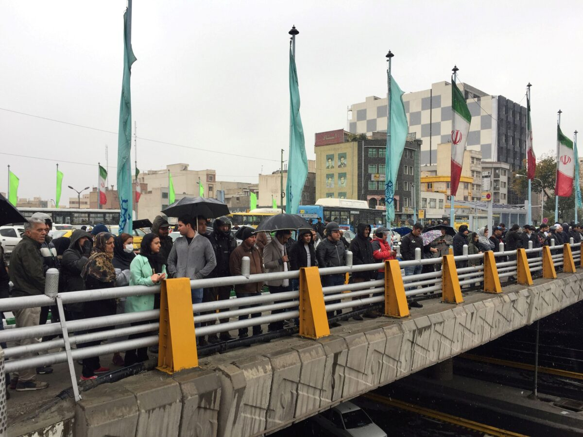 show their protest, Iran