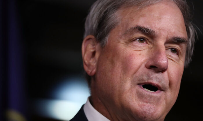 Rep. John Yarmuth (D-Ky.) speaks during a press conference in Washington in a 2017 file photograph. (Joe Raedle/Getty Images)