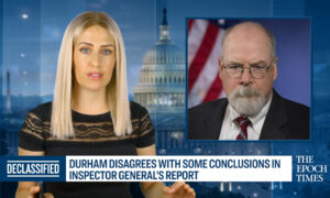 Durham Disagrees With Some Conclusions in Inspector General's Report