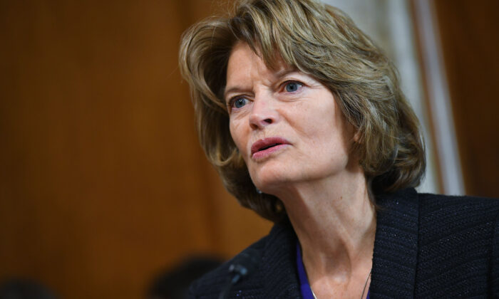 U.S. Senator Lisa Murkowski (R-Alaska) speaks during a committee hearing on the world energy outlook in the Dirksen Senate Office Building on Capitol Hill in Washington on Feb. 28, 2019. (Mandel Ngan/AFP)