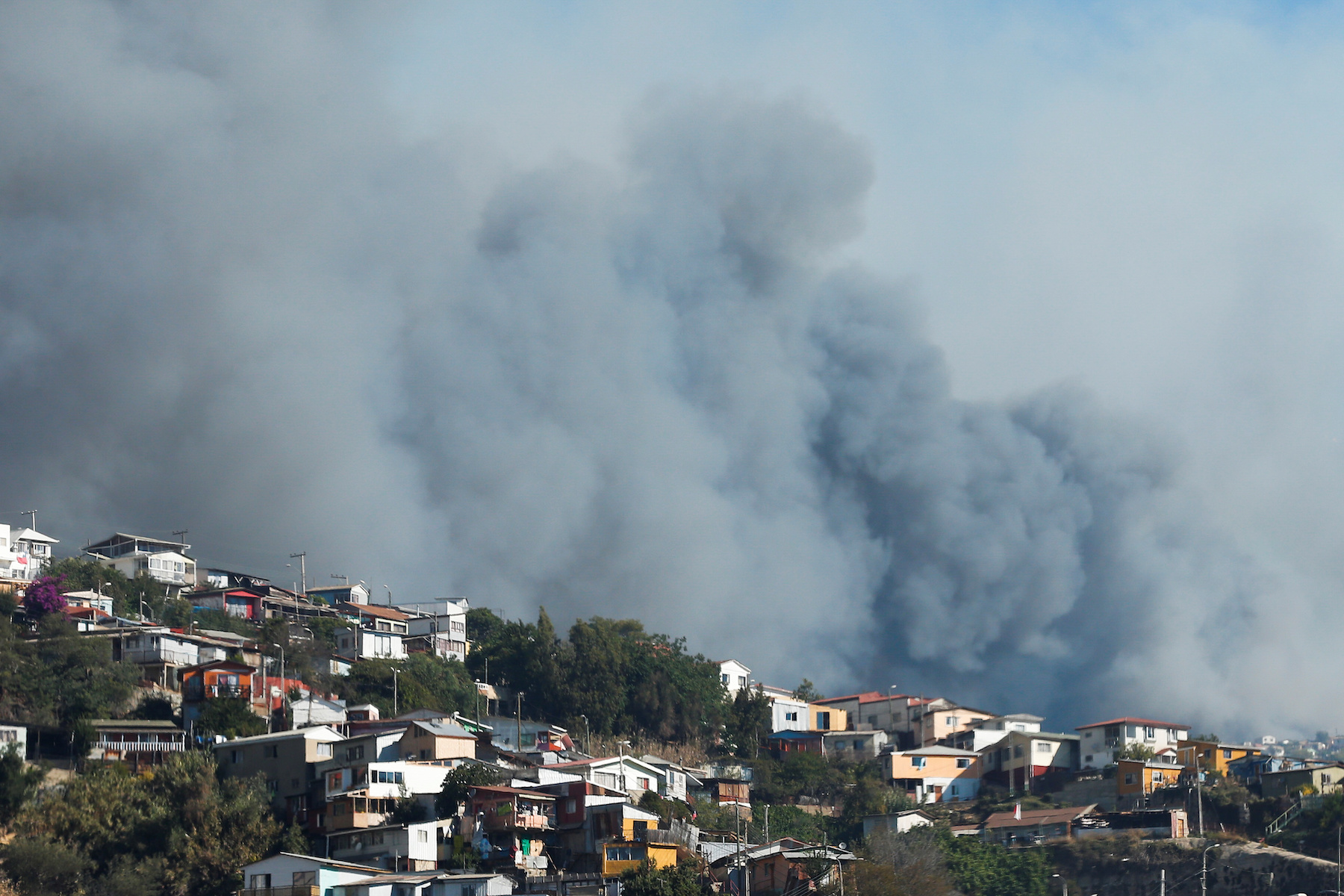 fire in Valparaiso Chile