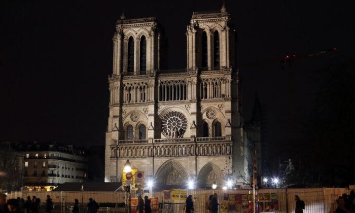 Notre Dame cathedral is pictured in Paris, on Dec. 24, 2019. (Thibault Camus/AP Photo)