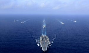 China Sails Carrier Group Through Taiwan Strait as Election Looms