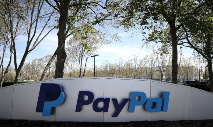 Paypal headquarters in San Jose, California, on April 9, 2018. (Justin Sullivan/Getty Images)