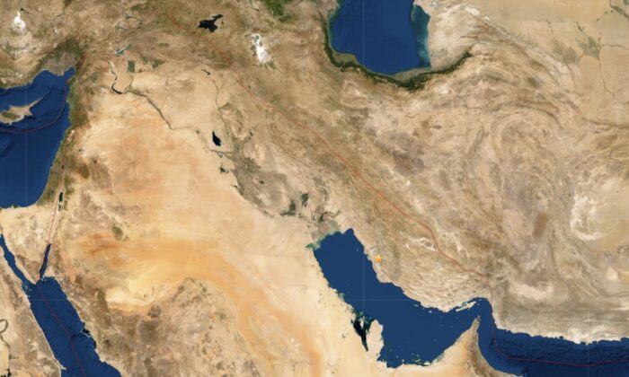 A 5.1 magnitude earthquake strikes Iran on Dec. 27, 2019. (USGS)
