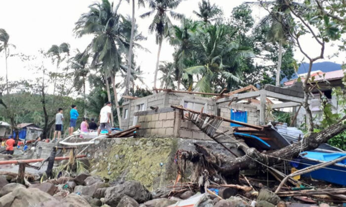 General view of storm debris in Biliran, Philippines Dec. 26, 2019. in this picture obtained from social media. (Vermalyn Maloloy-on Navarrete Via Reuters)