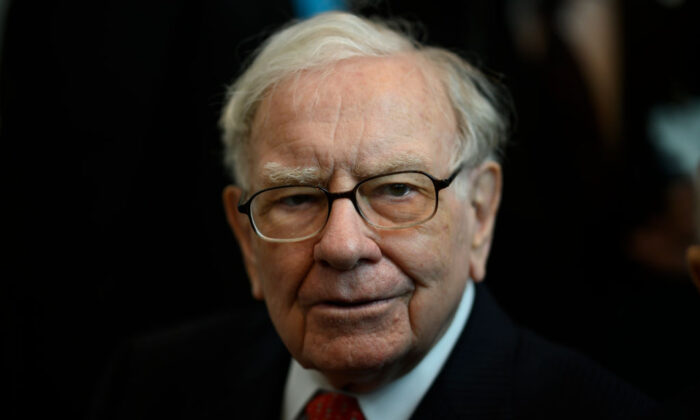 Warren Buffett, CEO of Berkshire Hathaway, attends the 2019 annual shareholders meeting in Omaha, Neb., May 3, 2019. (Johannes Eisele/AFP via Getty Images)